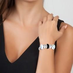 Charm bracelet black and...