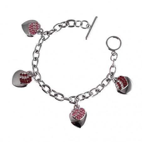 Bracelet charms coeur rouge