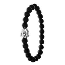 BR01 ágata negra con perlas...