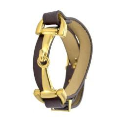 Bracelet métal et cuir...