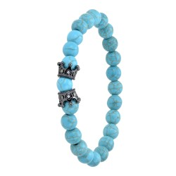 Turquoise round pearl and...