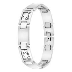 Man bracelet steel Lion