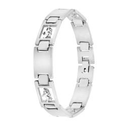 Man bracelet steel Sagittarius