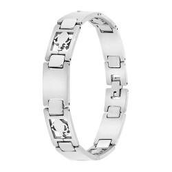 Bracelet homme acier Verseau