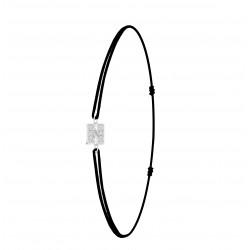 Bracelet lettre N élastique...