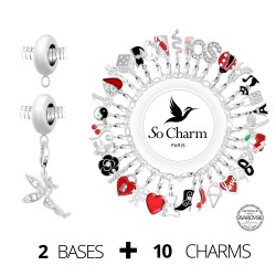 Lot de 10 charms breloques...