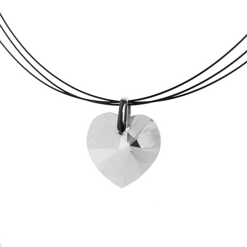 Collier Coeur blanc So Charm made with Crystal from Swarovski