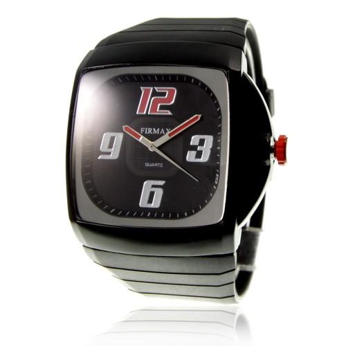 MH120 rouge Montre homme quartz bracelet silicone