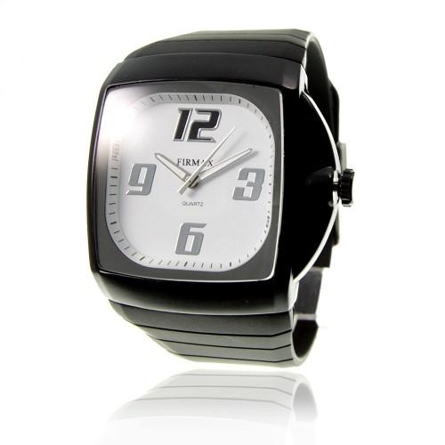 MH120 blanc Montre homme quartz bracelet silicone