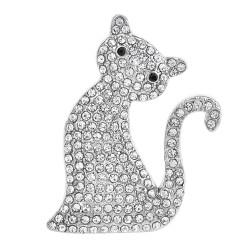 Broche chat décorée de...