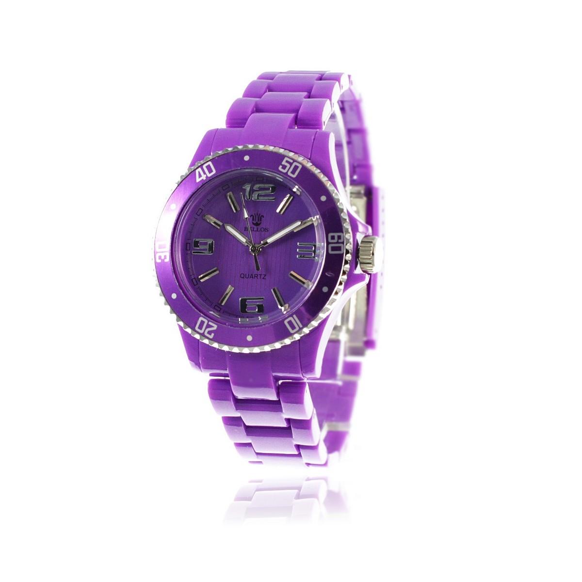 Montre femme bracelet violet