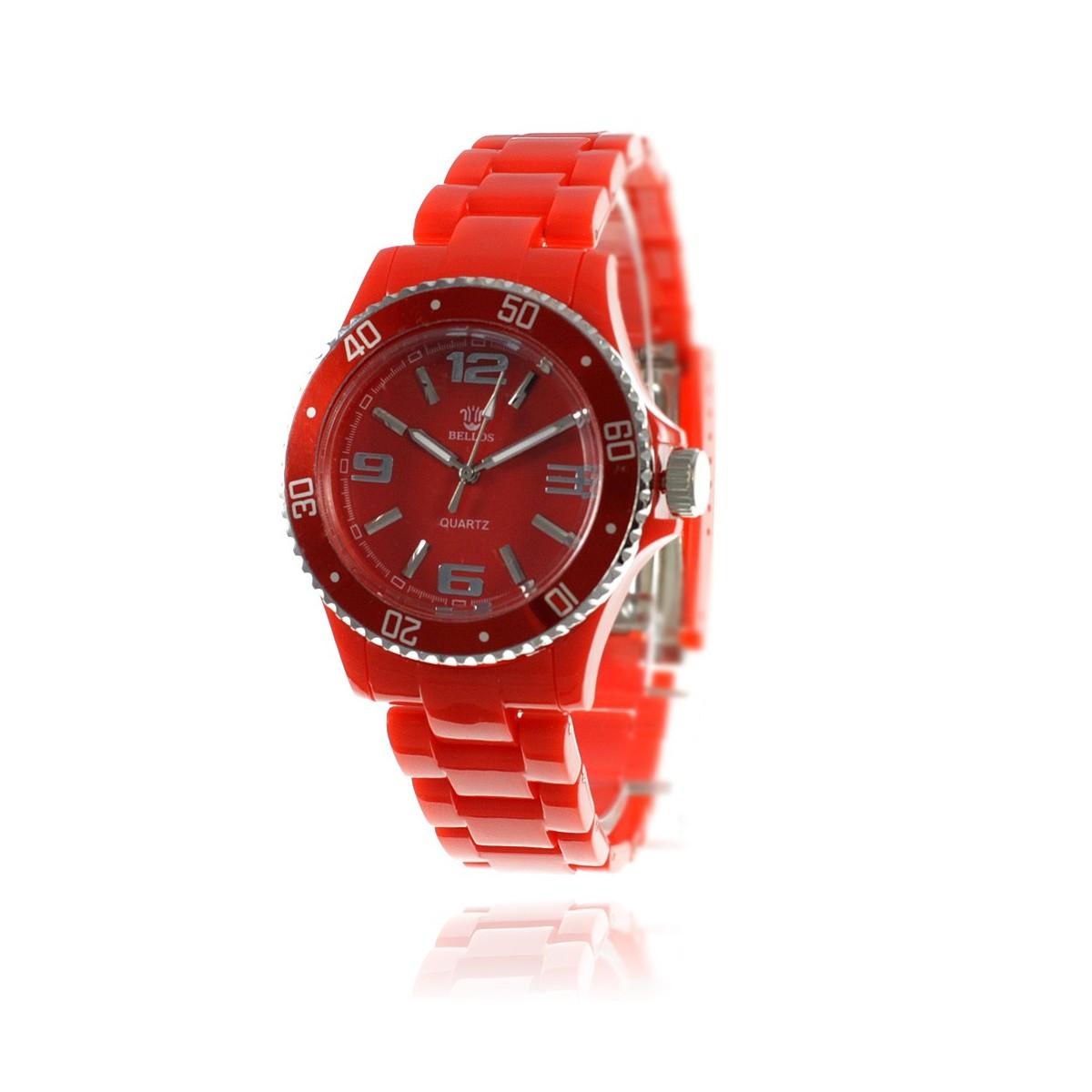 Montre femme bracelet rouge