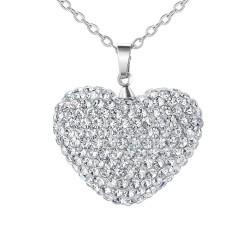 Collana cuore BR01 decorata...