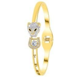 Leopard head bracelet in...