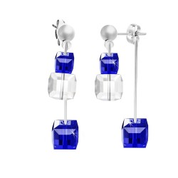 Silver BR01 earrings with...