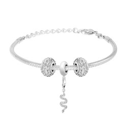 Bracelet charm et acier par...