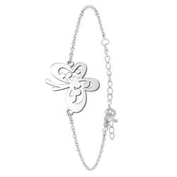Bracelet papillon en acier...
