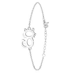 Bracelet chat en acier...