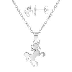 Set unicorno in acciaio...