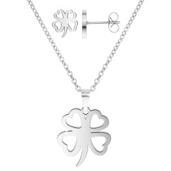 Stainless steel clover set...
