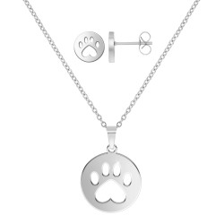 Stainless steel dog paw set...