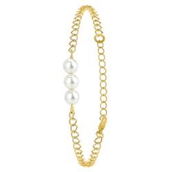 Pulsera adornada con perlas...