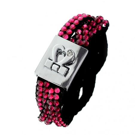 Bracelet tressé attache coeur