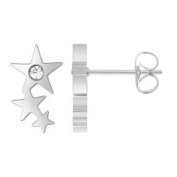 Steel heart earrings by...