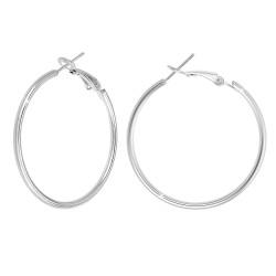 Steel hoop earrings by BR01