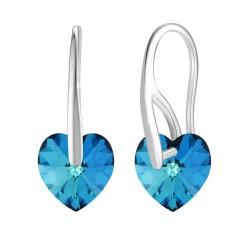 BR01 earrings in rhodium...