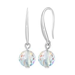 Earrings in rhodium silver...
