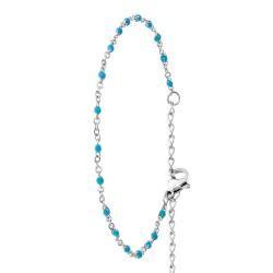 Braccialetto di perle blu...