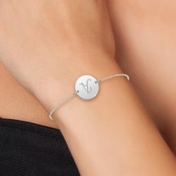Bracelet lettre A en acier...