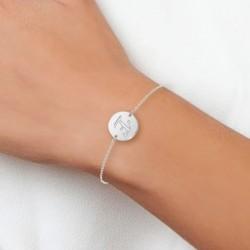 Bracelet lettre E en acier...