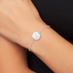 Bracelet lettre J en acier...