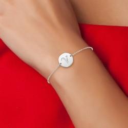 Bracelet lettre V en acier...