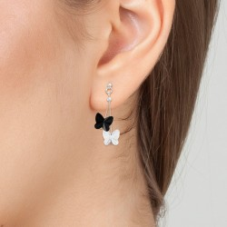 Butterfly earrings adorned...