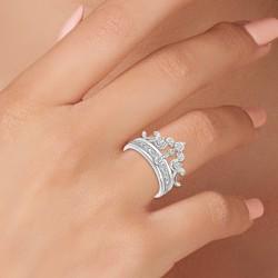 BR01 crown ring adorned...