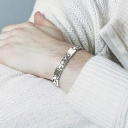Aquarius steel man bracelet
