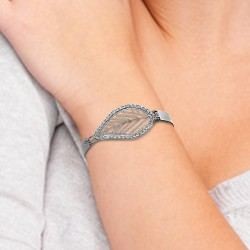 Bracelet feuille BR01 orné...