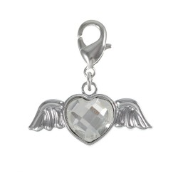 Charm ailes coeur strass So...