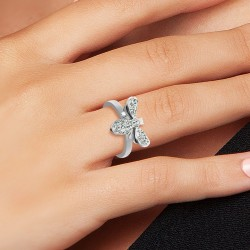 Steel BR01 bee ring adorned...