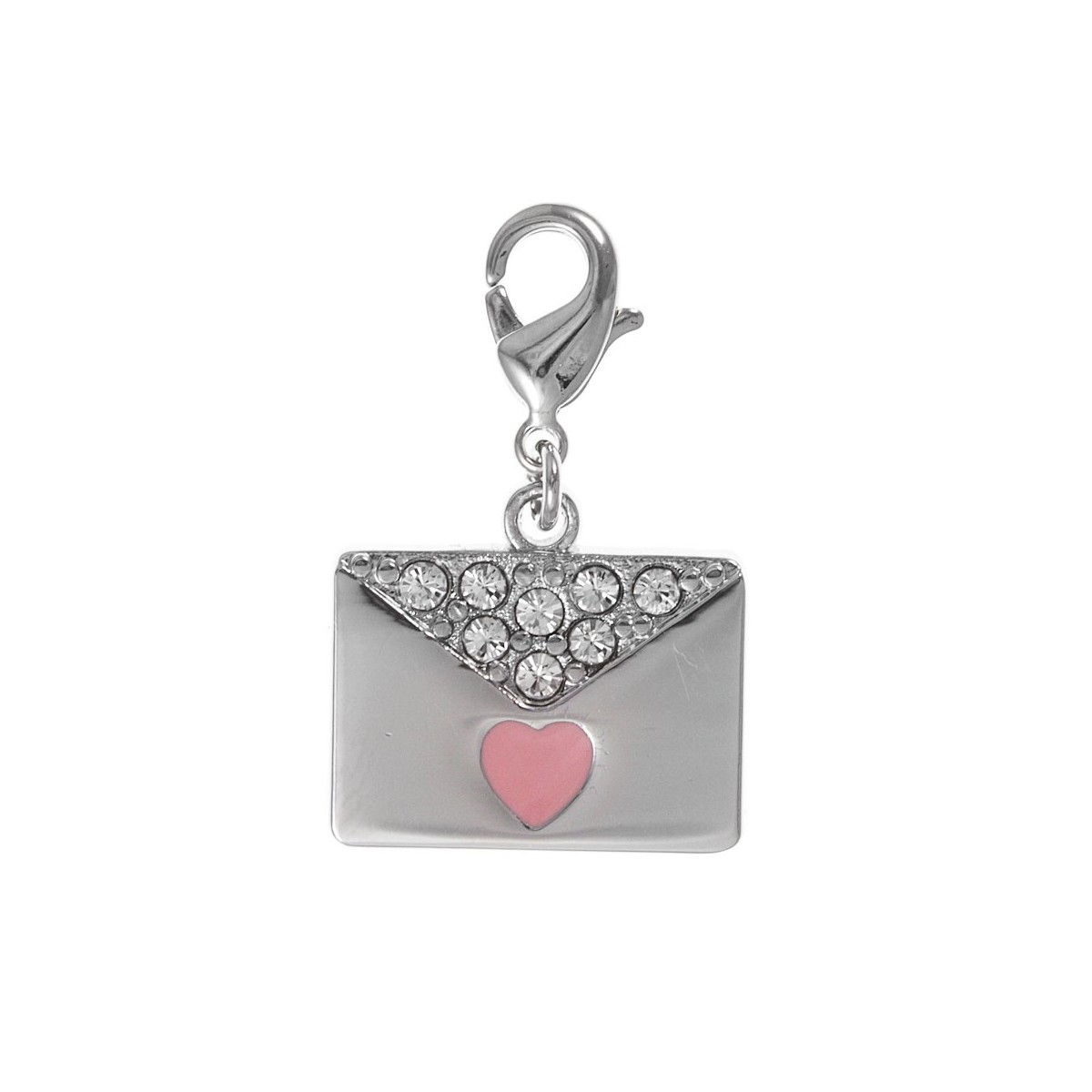 Charm sac pochette coeur rose So Charm