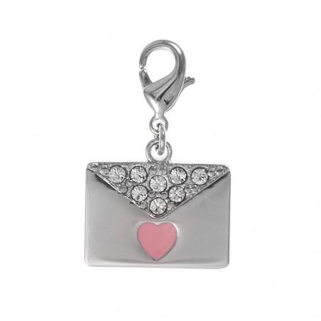 Charm sac pochette coeur rose So Charm