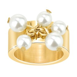 BR01 ring adorned with pearls