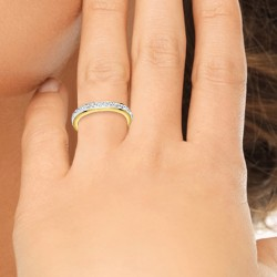 Anello d'oro BR01 decorato...
