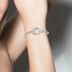 Bracelet menotte en acier...
