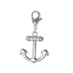 Charm ancre strass