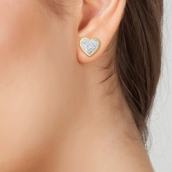 Boucles d'oreilles coeur en...
