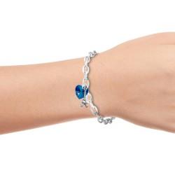 Bracelet coeur bleu et Tour...